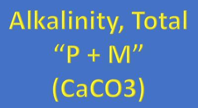 Water Analysis, Alkalinity, Total