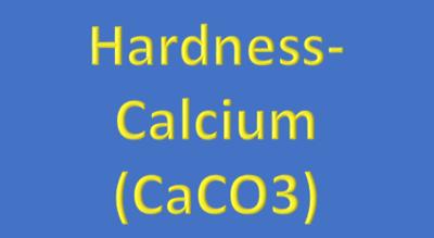 Water Analysis, Hardness-Calcium, (CaCO3)