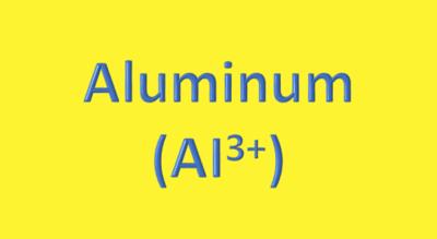 Water Analysis, Aluminum, (Alᶾ⁺)