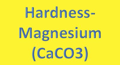 Water Analysis, Hardness-Magnesium, (CaCO3)