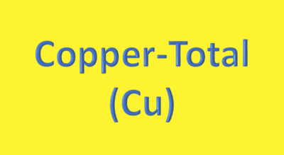 Water Analysis, Copper-Total, (Cu)