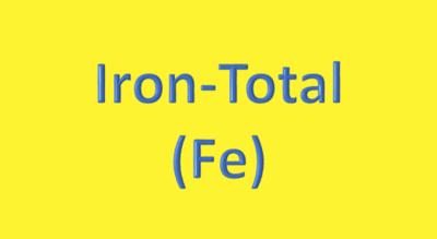 Water Analysis, Iron-Total, (Fe)