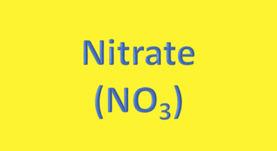 Water Analysis, Nitrate, (NO₃)