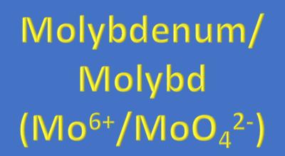 Water Analysis, Molybdenum/Molybdate, (Mo⁶⁺/MoO₄²⁻)