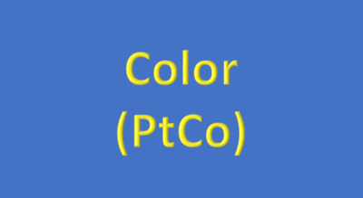 Water Analysis, Color (PtCo)