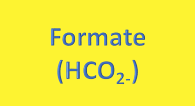 Water Analysis, Formate (HCO₂₋)