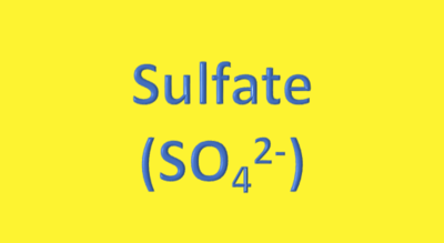 Water Analysis, Sulfate, (SO₄²⁻)