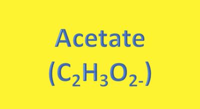 Water Analysis, Acetate (C₂H₃O₂₋)