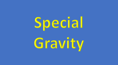 Water Analysis, Specific Gravity