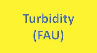 Water Analysis, Turbidity (FAU)