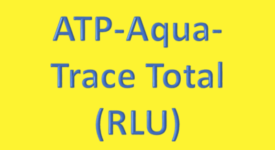 Water Analysis, ATP-Aqua-Trace Total (RLU)