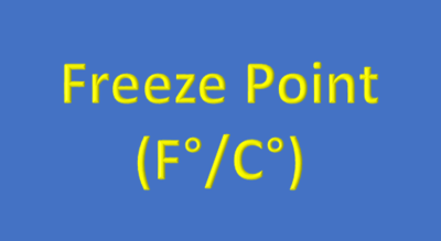 Water Analysis, Freeze Point (F°/C°)
