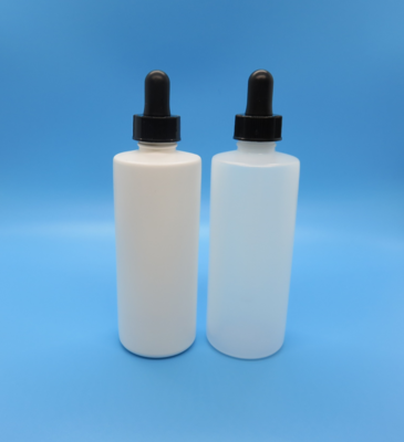 Bottle, Plastic, 4 oz with Glass Eyedropper & Cap Assembly