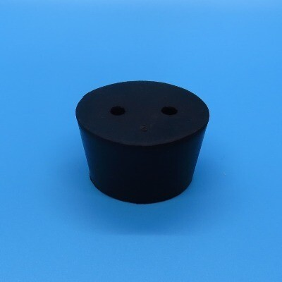Rubber Stopper, 2 Hole