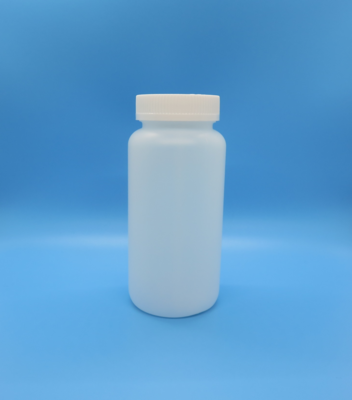 Bottle, Plastic, 500 cc (16 oz) Wide Mouth with PV Lined Child Resistant Cap