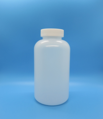 Bottle, Plastic, 950 cc (Quart) Wide Mouth with PV Lined Child Resistant Cap