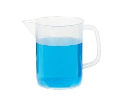 Beaker, Plastic, 500 ml Capacity with Handle
