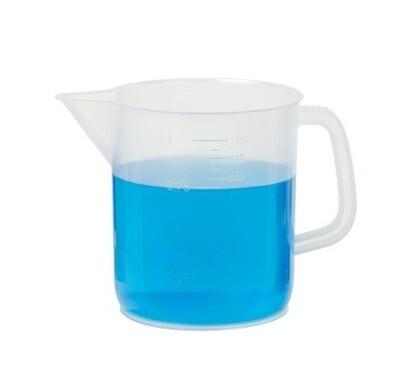 Beaker, Plastic, 1000 ml Capacity with Handle