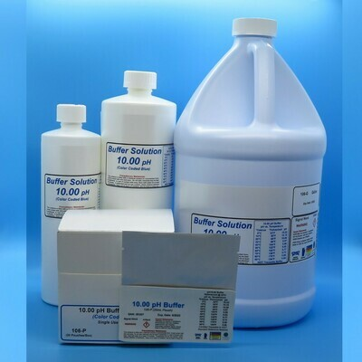 pH Buffer Solution 10.00 pH (Color Coded Blue)