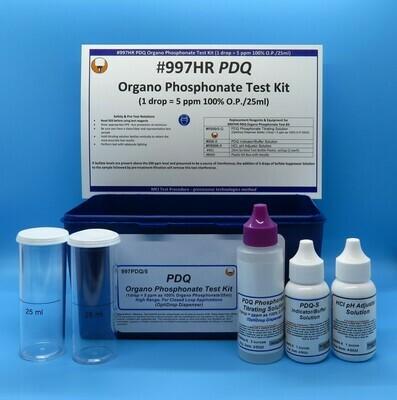 PDQ Organo Phosphonate High Range Test Kit, OptiDrop Dispenser
