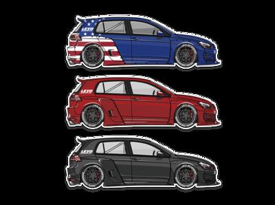 LEYO MK7 GTI Sticker Pack