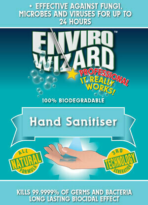 Enviro Wizard 5LT Hand Sanitiser 24 hr Protectant Aust Made Kills 99.99% of Bacteria