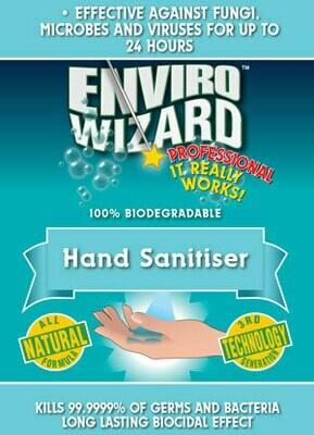 Enviro Wizard 5LT Hand Sanitiser 24 hr Protectant Aust Made Kills 99.99% of Bacteria