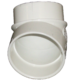 Ducted 45 degree fitting