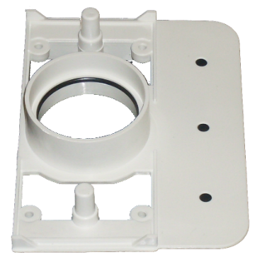 ducted backing plate