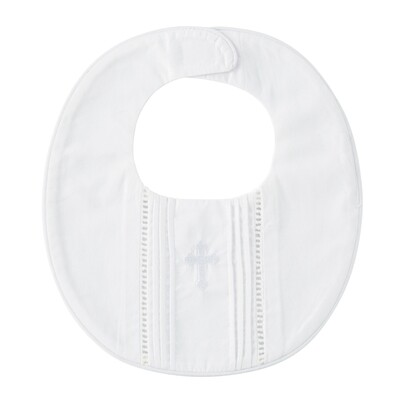 Pleated Christening Bib #10280100