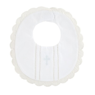 Scalloped Christening Bib #10280101