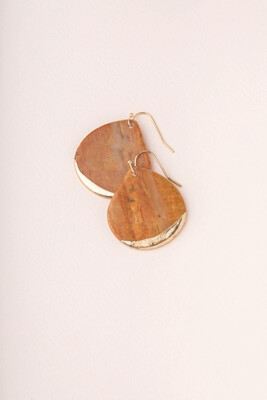 ED004 Petrified Wood/Gold