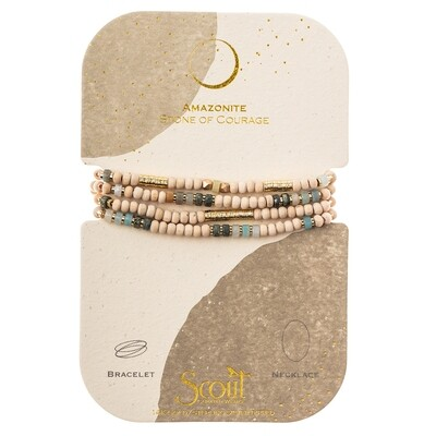 WB004 Stone Of Courage Wrap Amazonite/Gold