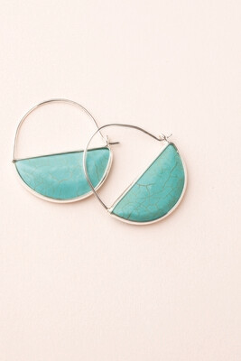 Stone Prism Earrings Turquoise EP005
