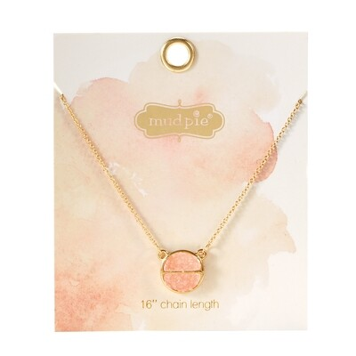 Druzy Necklace Blush #80290048BL