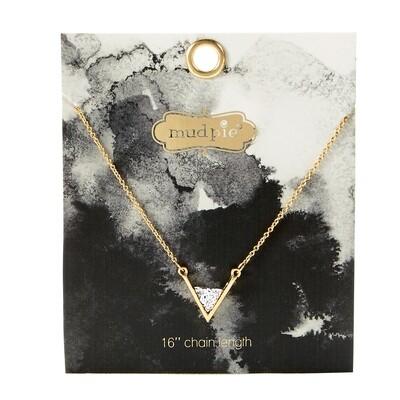 Druzy Necklace Silver #80290048SL