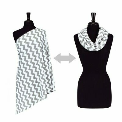 Nursing Scarf (C. Grey Chevron) #IBFS8003B