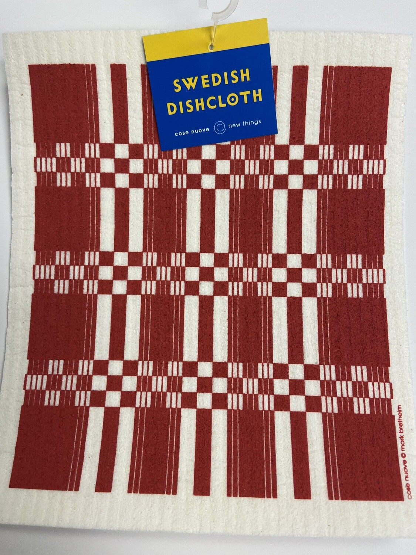 Swedish Dishcloth Folk Weave-Red #218.30R