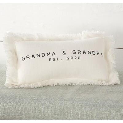 Grandparents Est.2020 Pillow #41600331