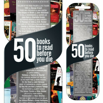 50 Books To Read Bookmarks #7401
