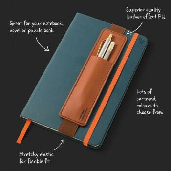 Bookaroo Pen Pouch Brown #40702