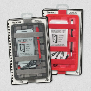 Bookaroo Notebook Tidy Red #40903
