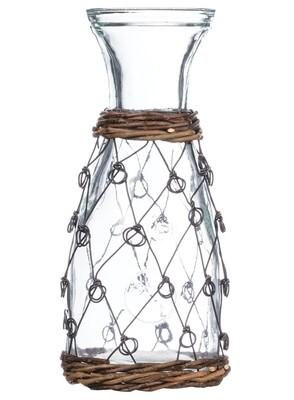 Wire Pattern Glass Bottle #G8138