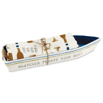 Cream Boat Cracker Dish Towel #42300014C