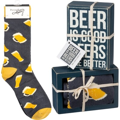 Box Sign & Sock Set - Beers #105535