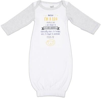 ST - Leo - 0-3 Months Gown W/Mitten Cuffs #69078