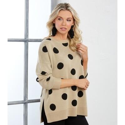 Gracie Polka Dot Sweater #80140036TN-M