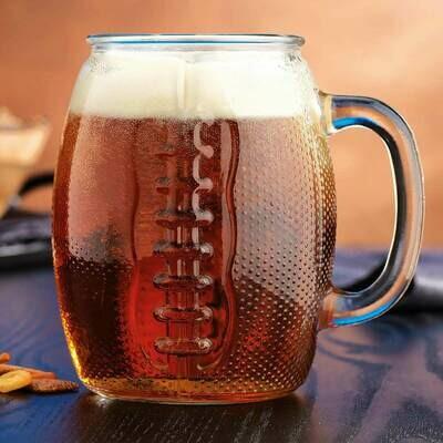 Beer Den Football Mug 37oz #2464