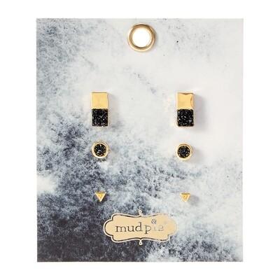 Druzy Earring Black #80290049BK