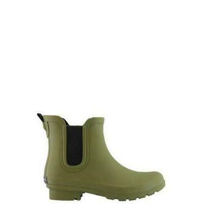 Women's CHELSEA Matte Olive Rain Boots #RC1906CP